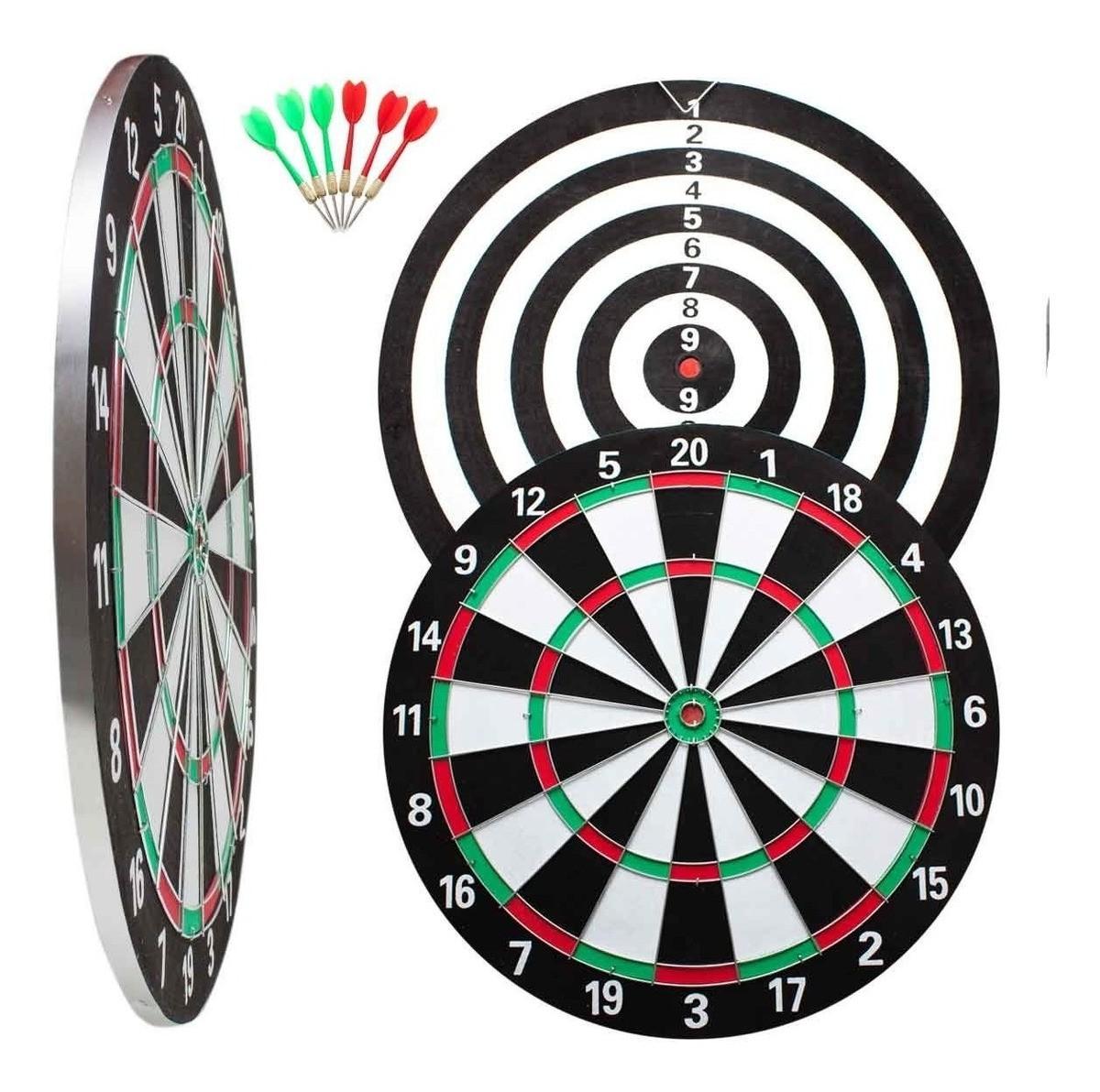 Jogo de dardos com alvo de 42cm de diametro 6 dardos atrio es170