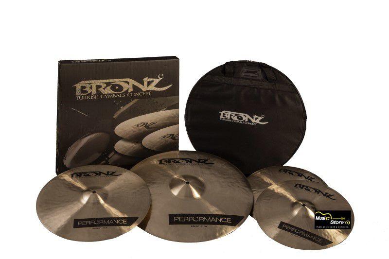 Kit de Pratos Bronz Performance Series B20 c/ Bag