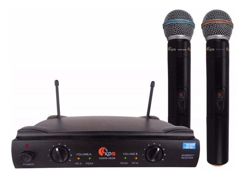 Microfone Sem Fio Duplo Kadosh Kdsw 402m Uhf