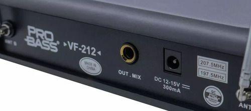 Microfone sem Fio Duplo  PROBASS VHF VF-212