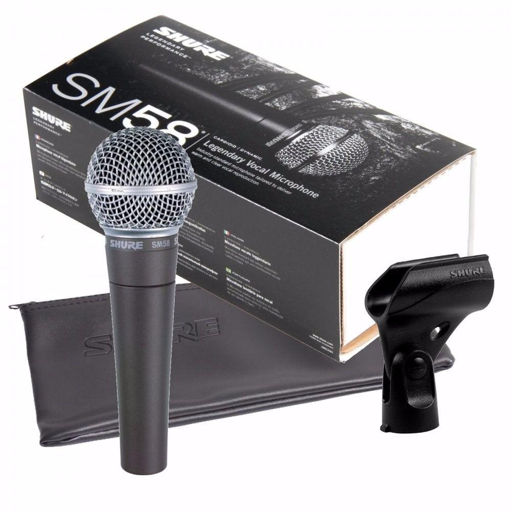 Microfone Shure de Mão Sm58-lc