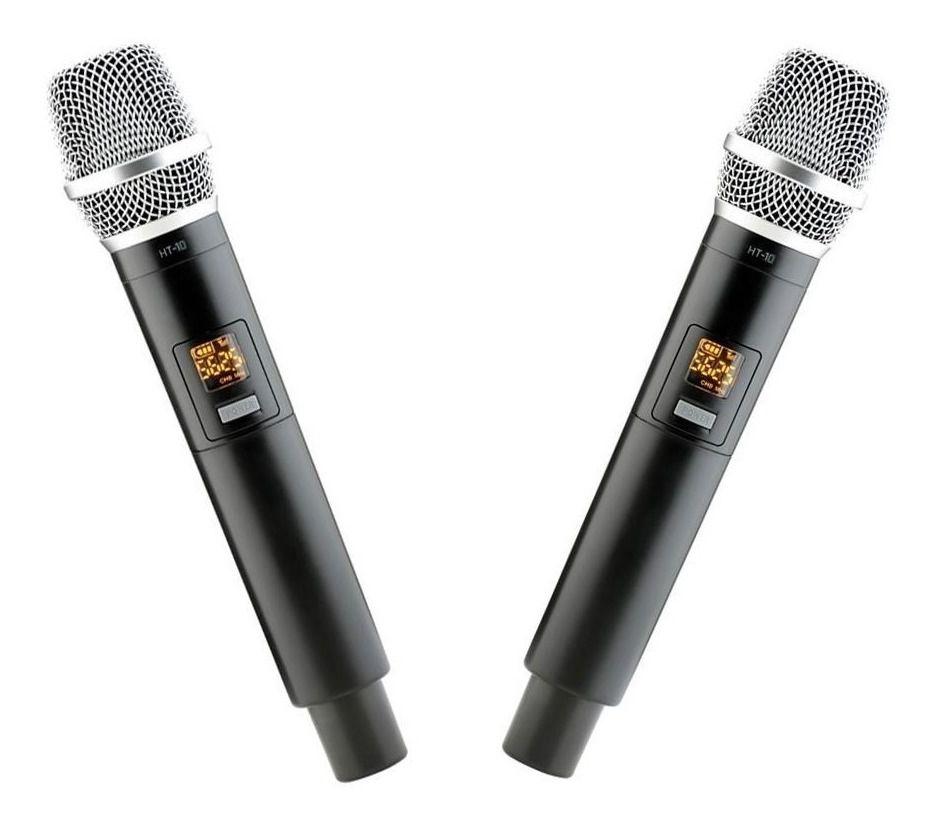 Microfone Vokal Sem Fio De Mão Duplo Vms-12  Uhf