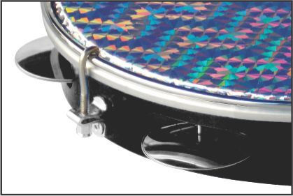 Pandeiro Torelli 10' Preto Pele Holográfica TP 308