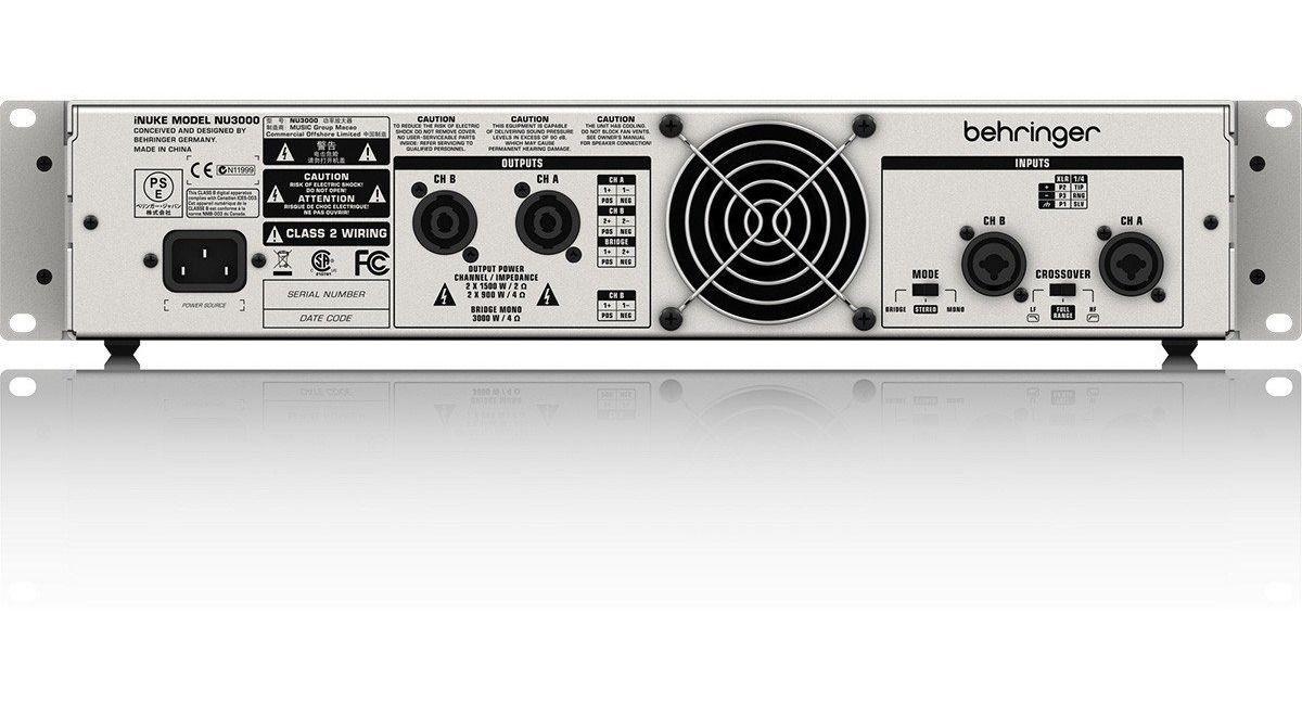 Potência Amplificador Behringer Nu3000 Inuke Digital