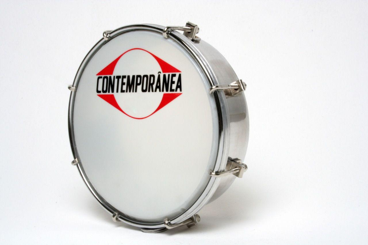 """Tamborim Contemporânea Alumínio 06"""" Ny Cr 203c + Baqueta"""