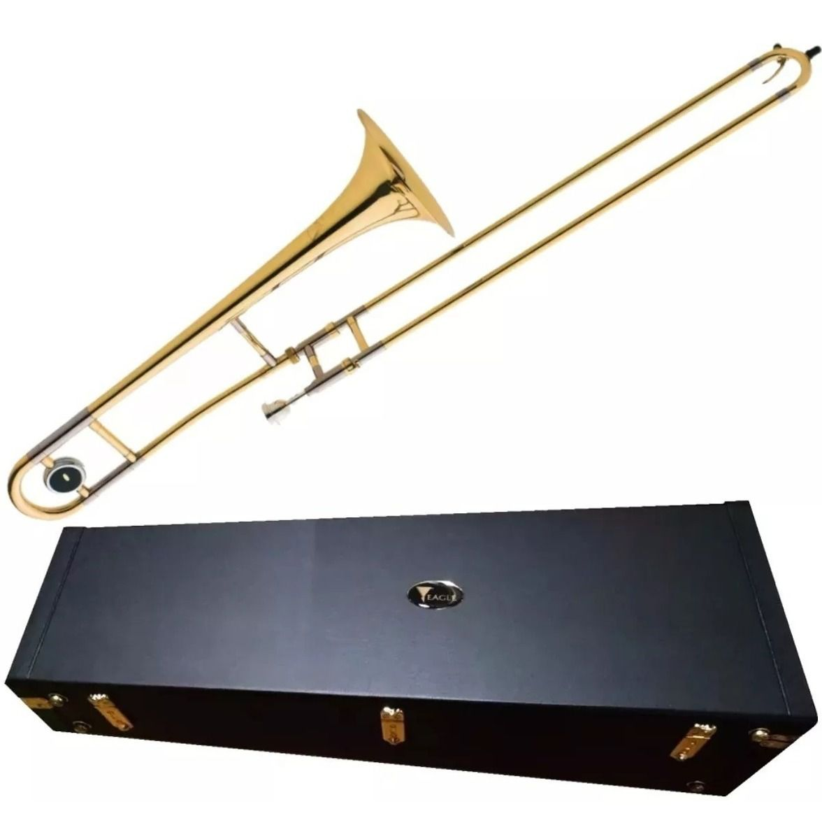 Trombone De Vara Eagle Em Sib Laqueado TV600 Com Estojo