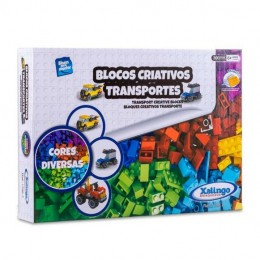 Blocos Criativos - Transportes - 300 Peças - Xalingo