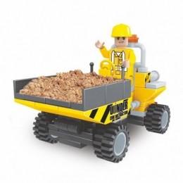 Blocos de Montar - Cidade em Obras - Carrinho de Carga - 89 Peças - Xalingo