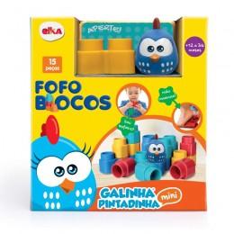 Blocos de Montar Macio - Fofo Blocos - Galinha Pintadinha Mini - Elka
