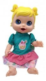Boneca - Baby's Collection - Comidinha - Loira - Super Toys