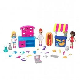 Boneca Polly Pocket - Carrinho de Moda e Comida  - Mattel