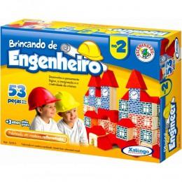 Brincando de Engenheiro - 53 Peças Em Madeira - Xalingo