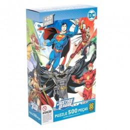 Quebra-Cabeça - Liga da Justiça - DC Comics - 500 Peças - Grow