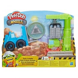Massinha Play-Doh Wheels - Guindaste E Empilhadeira - Hasbro