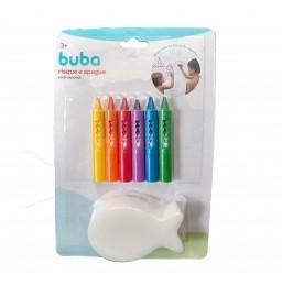 Giz Colorido para Banho - Risque e Apague com Esponja - Buba