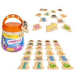 Jogo da Memória Mundo Bita - Madeira - Nig Brinquedos