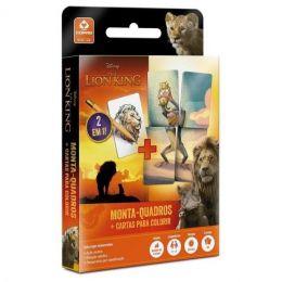 Jogo Monta-Quadros + Cartas para Colorir - Rei Leão - Copag