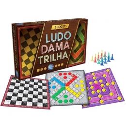 Jogos Dama, Ludo e Trilha - Pais e Filhos