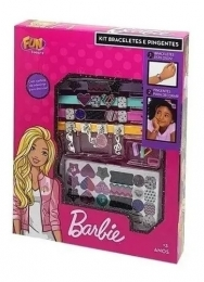 Kit Braceletes e Pingentes - Barbie - Fun
