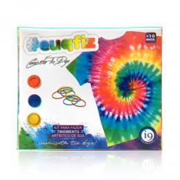 Kit Tie Dye Com Camiseta - Adulto Tamanho G - EuQFiz - I9 Brinquedos