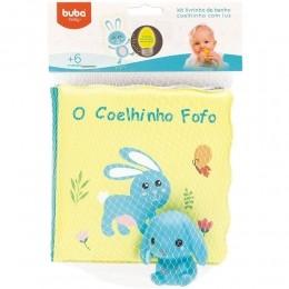 Kit Livrinho de Banho - O Coelhinho Fofo - Com Luz - Buba