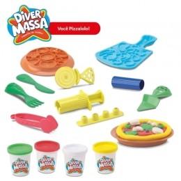 Kit Massinha de Modelar - Pizzaria Turma da Mônica - Diver Toys