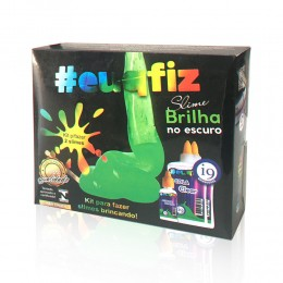 Kit Slime - Brilha No Escuro - 2 Slimes - EuQFiz - I9 Brinquedos