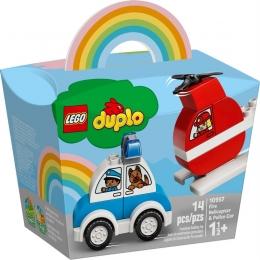 Lego Duplo - Helicóptero dos Bombeiros e Carro da Polícia - 14 Peças - 10957