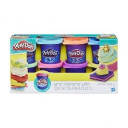Massinha Play-Doh Plus - Kit com 8 Potes - Hasbro