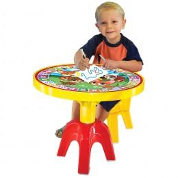Mesa Infantil com Cadeira - Animais e Letras - Apolo Brinquedos