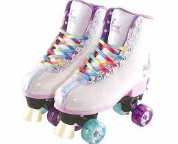 Patins 4 rodas - Ajustável - Com Luz - Unicórnio - Roller Skate - 35 a 38 - Fênix