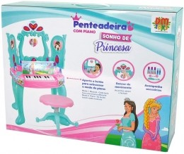 Penteadeira com Piano - Princesas - DM Toys