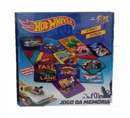 Jogo da Memória - Hot Wheels - 12 Peças - Fun
