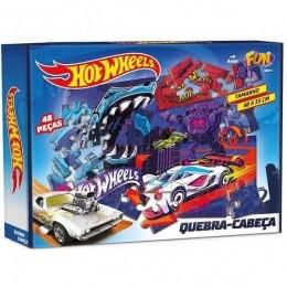 Quebra-Cabeça - Hot Wheels - 48 Peças - Fun
