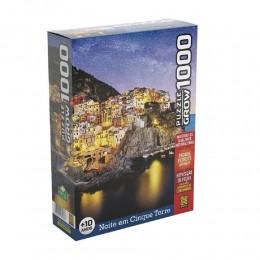 Quebra-Cabeça - Noite em Cinque Terre - 1000 peças - Grow