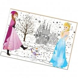 Quebra Cabeça Para Colorir -Princesa do Gelo - Brincadeira de Criança