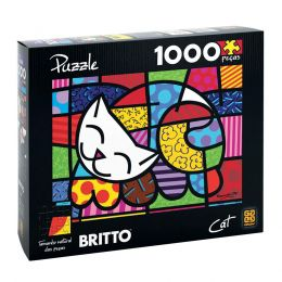 Quebra-Cabeça Romero Britto - Cat - 1000 Peças - Grow