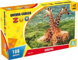 Quebra-Cabeça Zoo - Girafas - 108 Peças - Nig Brinquedos