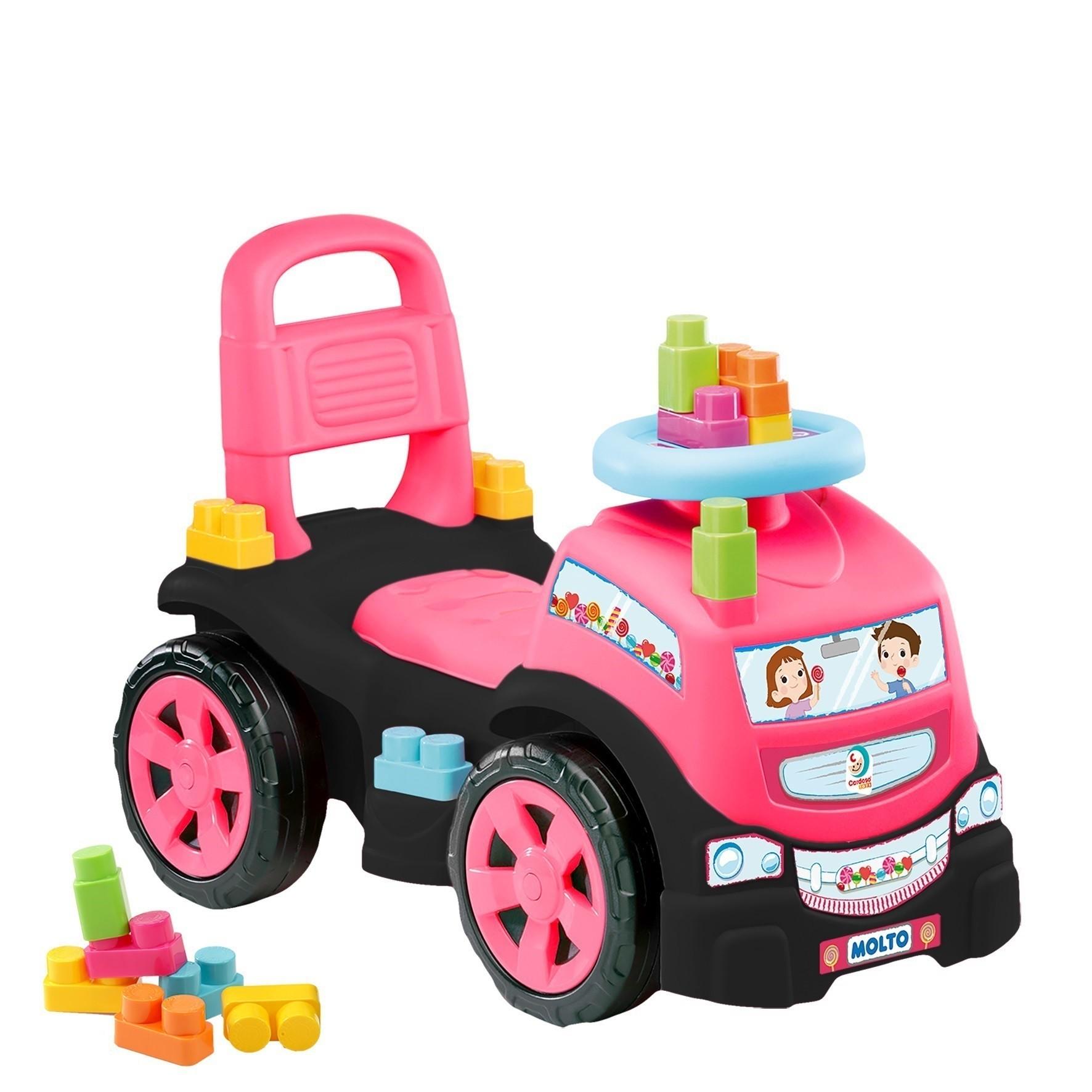Andador - Baby Land - Blocks Truck in Ride On - Menina - Cardoso Brinquedos