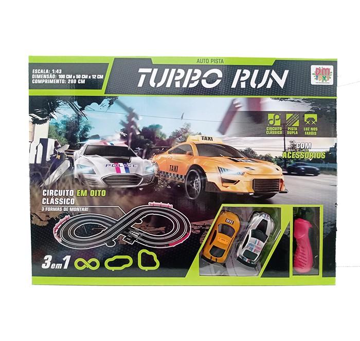 Auto Pista - Turbo Run 3 em 1 - Circuito Clássico em Oito - DM Toys