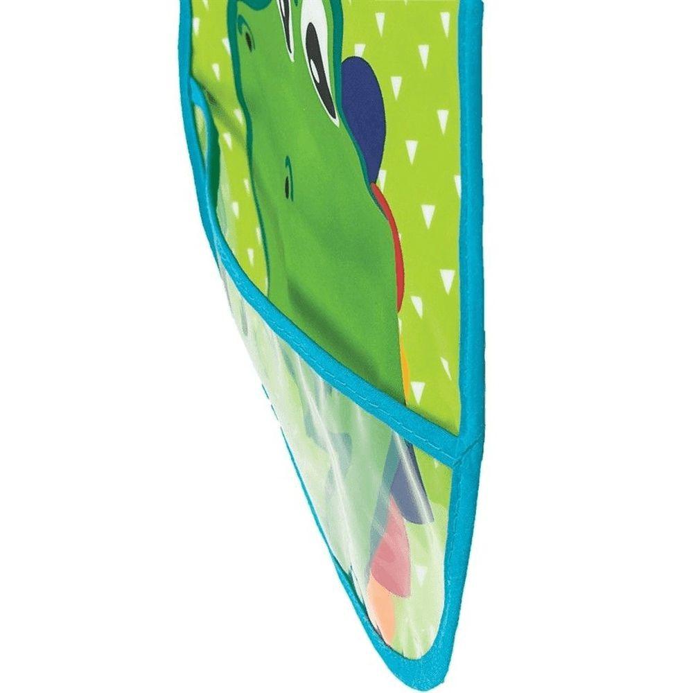 Babador Com Bolso Verde - Dino - Buba
