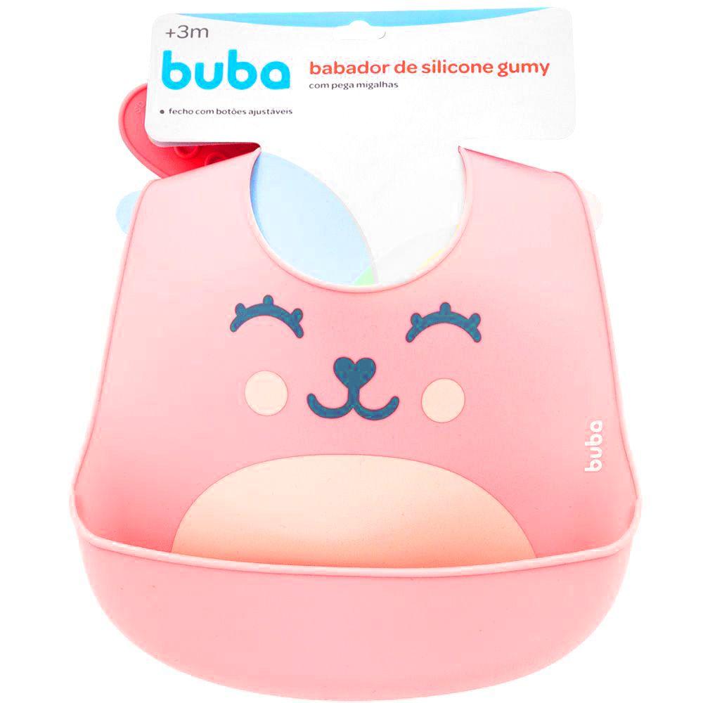 Babador Gumy Rosa - Silicone - Buba