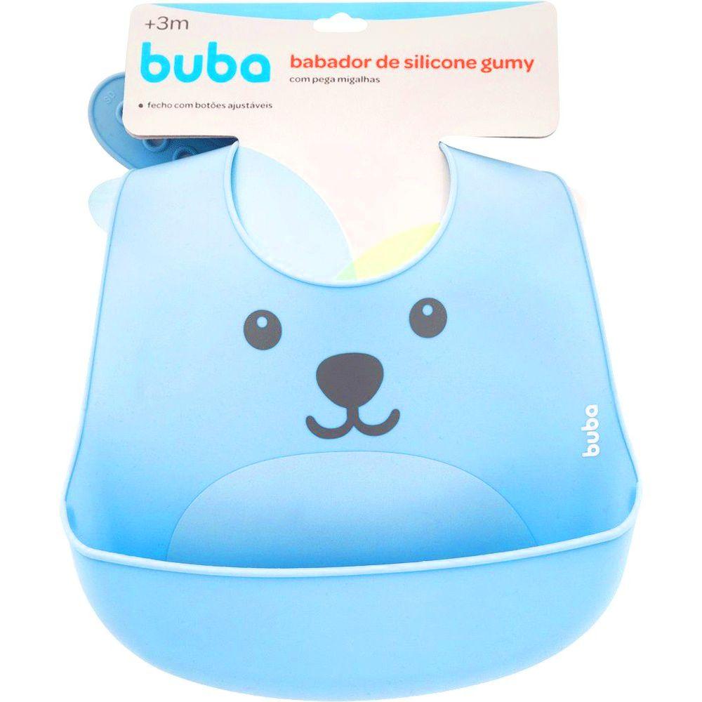 Babador Gumy Azul - Silicone - Buba