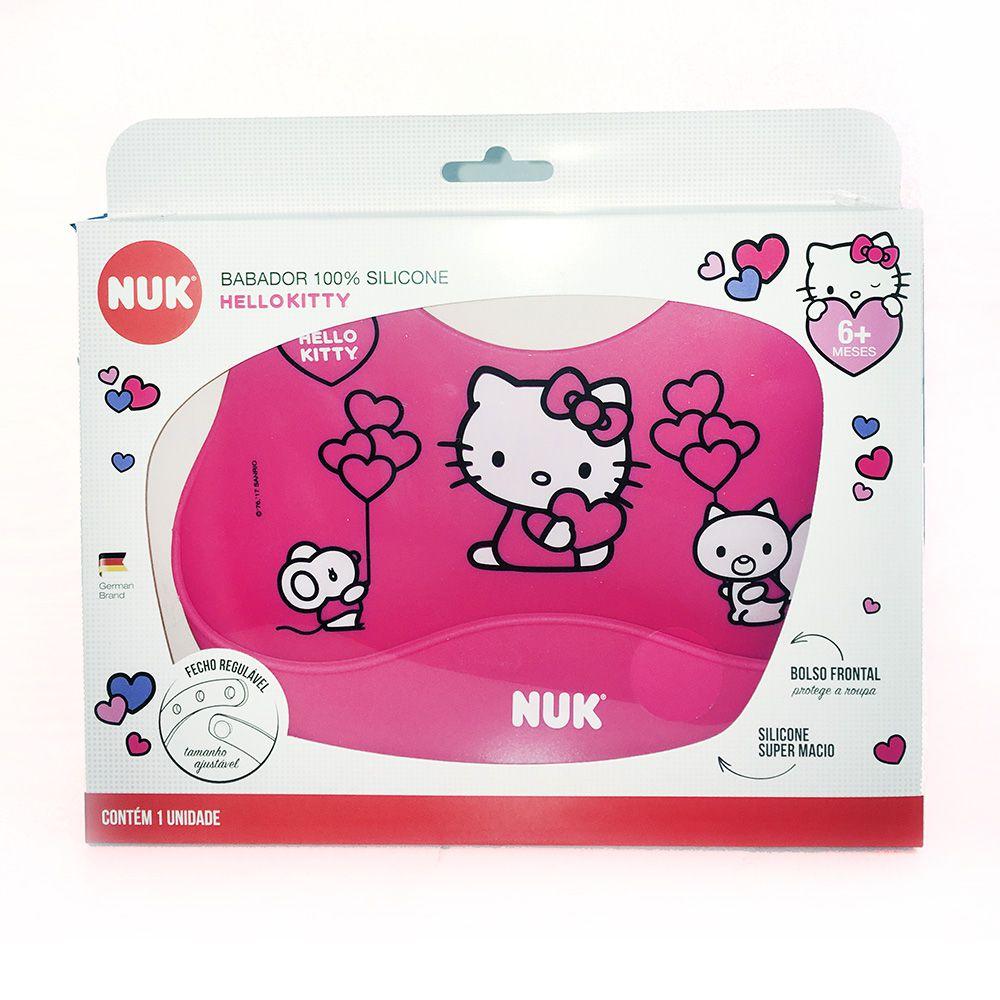 Babador Hello Kitty - 100% Silicone - Nuk
