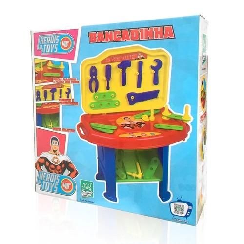 Bancada de Ferramentas - Bancadinha Heróis da Toys - Super Toys
