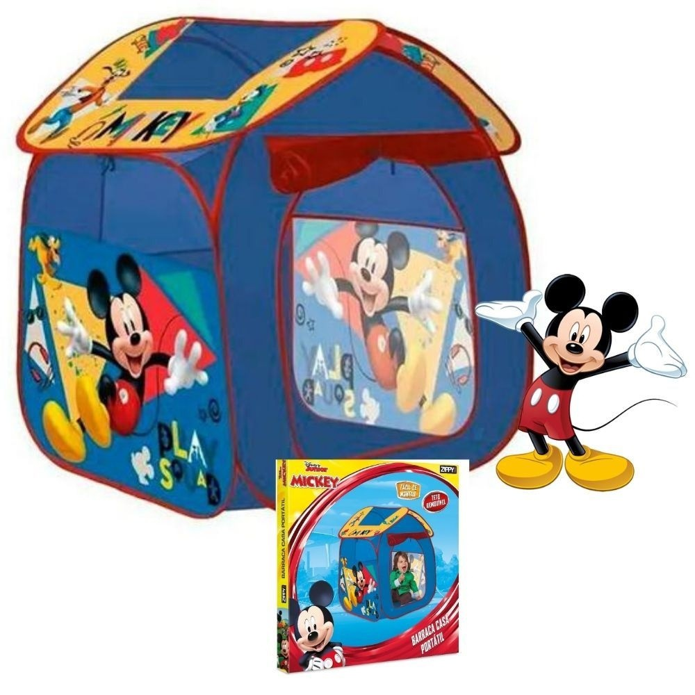 Barraca Casa Portátil - Mickey - Zippy Toys