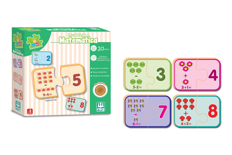 Descobrindo a Matemática - Coleção Be a Bá - Em Madeira - Nig Brinquedos