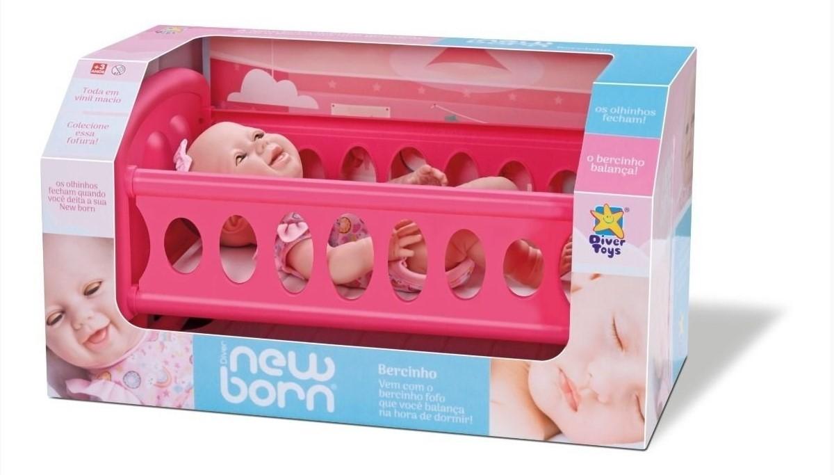 Bebê New Born Bercinho - Diver Toys