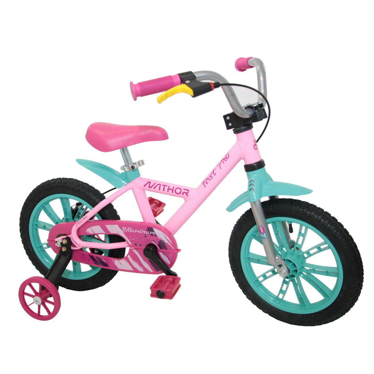 Bicicleta Aro 14 - First Pro - Menina - Nathor