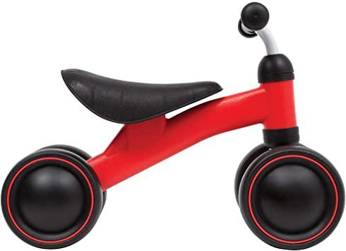 Bicicleta de Equilíbrio - 4 Rodas Vermelho/Preto - Buba